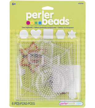 Perler Fun Fusion Pegboards 5/Pkg-Clear Small & Large Basic Shapes