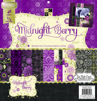 "DCWV 12""x12"" Premium Cardstock Stack Midnight Berry"