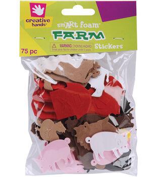 Fibre Craft Foam Stickers-75PK/Farm