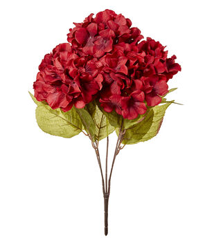 Blooming Autumn 20'' Hydrangea Bush-Red