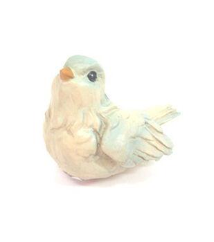 Fairy Garden Resin Bird-Blue