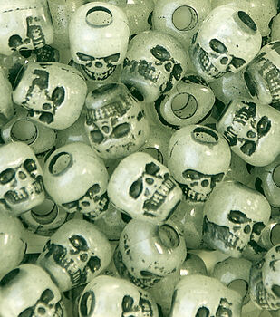 Skull Beads Glow In The Dark 250 Ct