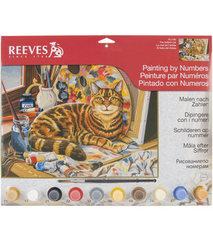 "Reeves Paint By Number Kit 12""X16""-Resting Cat"