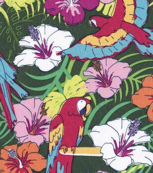 Tropical Fabric- Parrot Floral Multi Shirt