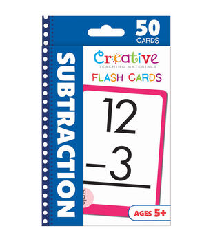 Creative Teaching Materials 50ct Flash Cards-Subtraction