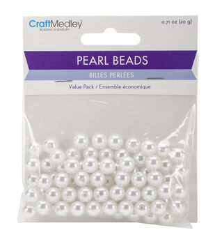Craft Medley Pearl Beads Value Pack 8mm