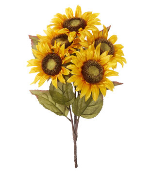 Blooming Autumn 18'' Sunflower Bush-Yellow