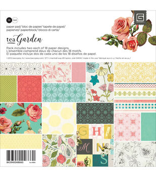 Basic Grey Tea Garden Paper Pad 6''x6''