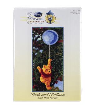 MCG Textiles Latch Hook Kit 17''x36''-Pooh And Balloon