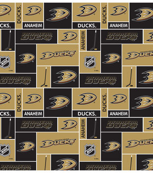 Anaheim Ducks NHL Block Cotton Fabric
