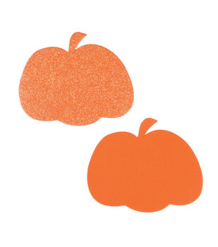 Little Makers™ Value Pack Foam Pumpkin Bases, Half Glitter