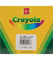Crayola Regular Size Bulk White Crayons-12/Pkg, , hi-res