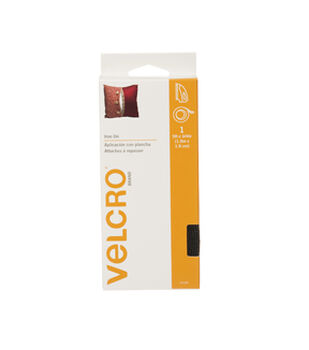 VELCRO® Brand  Iron On 5ft x 3/4in tape. black.