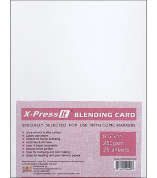 "Copic X-Press Blending Card 8.5""X11"" 25 Sheets-White"