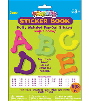 Darice Foamies Alphabet Sticker Book-498PK/Brights