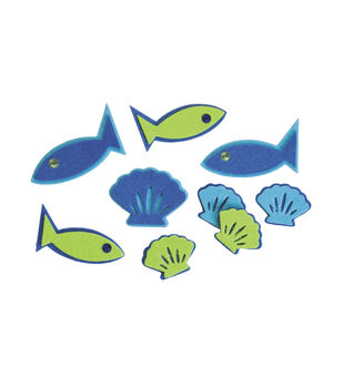 2mm Felt Fish Stickers