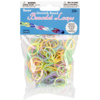 Darice Mini Glow in the Dark Rubber Bands and Clips 300pcs