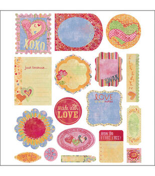 Basic Grey Cardstock Die-Cut Embellishments-17PK/Sugar Rush