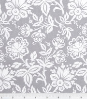 Keepsake Calico™ Cotton Fabric-Kimberly Small Floral Gray, , hi-res
