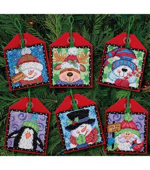 Dimensions Christmas Pals Ornaments Counted Cross Stitch Kit