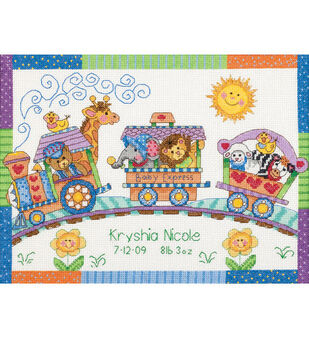 Dimensions Counted Cross Stitch Baby Express Birth Record