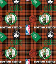 Boston Celtics  NBA Plaid Fleece Fabric, , hi-res