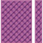"Cuttlebug 5""X7"" Embossing Folder/Border Set-Geometric Rings, , hi-res"