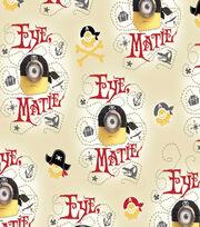 Minions Pirates Cotton Fabric 44''-Beige, , hi-res