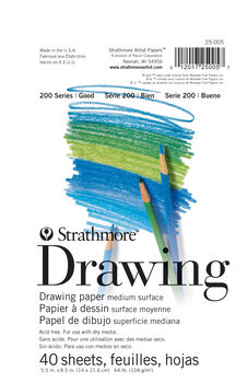 "Strathmore Drawing Paper 200 Series, 5.5"" x 8.5"""