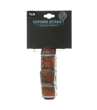 Oxford Street Jewelry Co. Silver & Amber Squares Bracelet