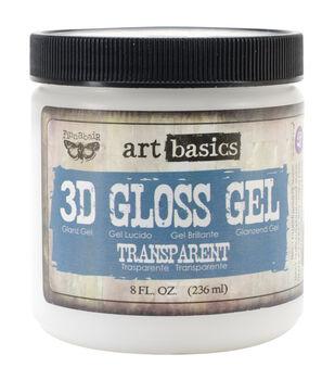Transparent-Art 3D Gloss Gel 8 Oz