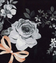 Keepsake Calico™ Cotton Fabric-Pretty Floral Black Gray, , hi-res