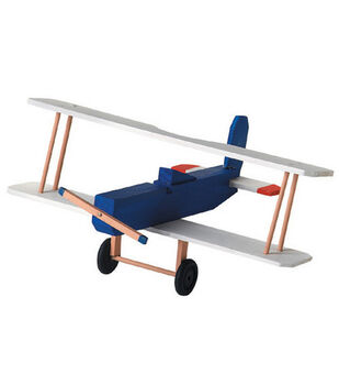 Darice Wood Model Kit-Biplane
