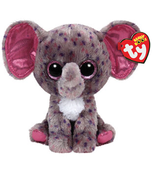 TY Beanie Boo Specks Grey Speckled Elephant