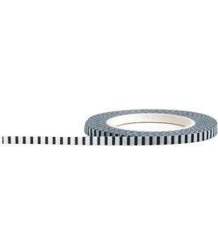 Little B Decorative paper Tape 3mmx15m-Black & White Stripe