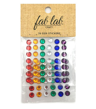 Stick-On Rhinestones Primary Colors-7mm Rounds