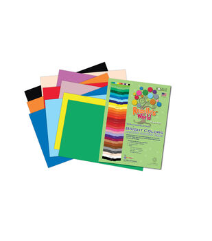 Roselle's Bright Colors Sulfite Construction Paper 9'' x 12''-50 sheets Assorted Colors