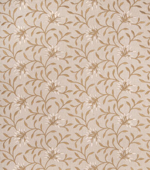 Eaton Square Print Fabric-Greenville/Linen