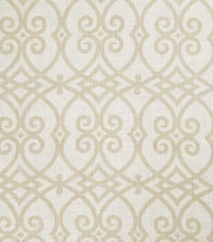 Jaclyn Smith Upholstery Fabric-Gatework Rot/Cashew