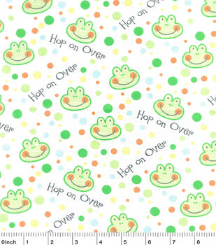 Nursery Flannel Fabric-Happy Jungle Hop On Over