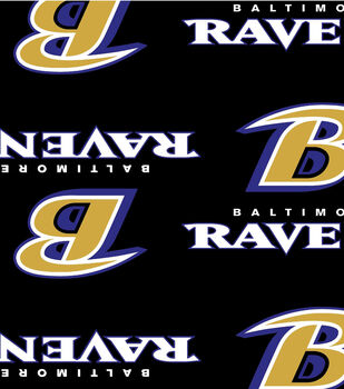 Baltimore Ravens NFL Ultra Fluffy Fleece Fabric by Fabric Traditions