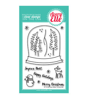 Avery Elle Clear Stamps-Snow Globe