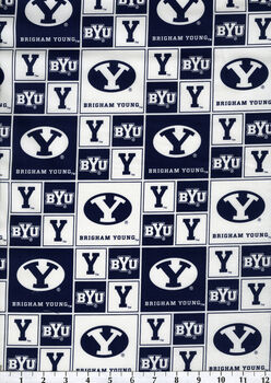 Brigham Young University NCAA  Cotton Fabric