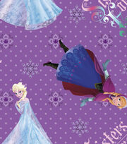 Disney Frozen Sisters Cotton Fabric, , hi-res