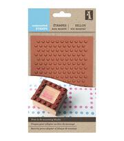 Inkadinkado Unmounted Rubber Stamps-Polka Dots, , hi-res