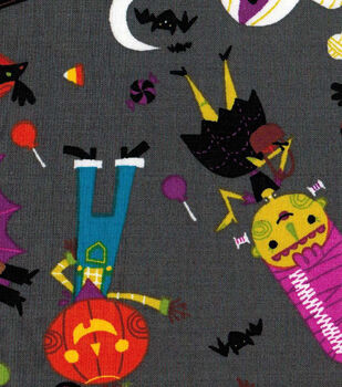 Halloween Cotton Fabric- Friendly Monsters