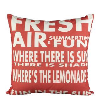 Escape to Paradise Fun In Sun Watermelon Pillow