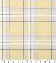 Keepsake Calico Fabric - Plaid Yellow Gray, , hi-res