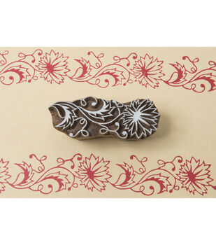 Blockwallah Block Stamp-Indian Flower