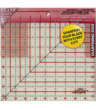 "9.5"" X 9.5"" Ruler Cutting Edge 9"